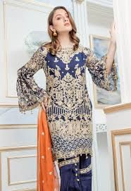 a1a31402436 Maryum   Maria Embroided Lawn Suit 2018 ₨2