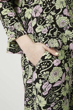 '70s Floral Print Silk Wide Leg Trousers by Boutique - Boutique - Clothing - Topshop