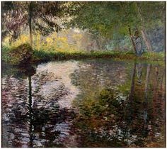 Claude Monet: The Pond at Montgeron (c.1876) via State Hermitage Museum