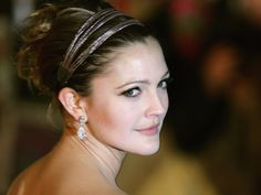 drew barrymore  - great up-do & make up