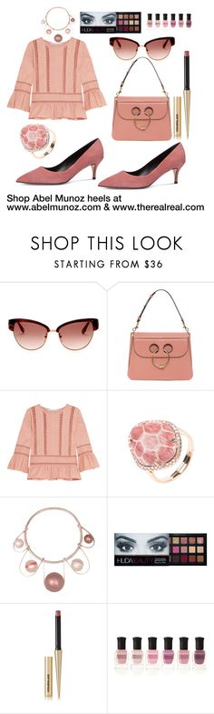 www.therealreal.com by abelmunozaccessories on Polyvore featuring Chelsea Flower, J.W. Anderson, ESCADA, Huda Beauty, Hourglass Cosmetics and Deborah Lippmann