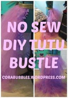 No sew DIY tutu bustle! Perfect for steampunk or halloween!