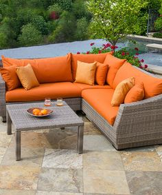 Look what I found on #zulily! Delano Corner Sectional Sofa Four-Piece Set by RST OUTDOOR #zulilyfinds