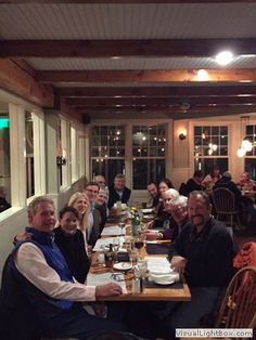 2016-11-21 Happy 25th Anniversary Jim and Sharlene Kelly photographed about a week ago at a celebration with Bayside friends at Peter Ott's in Camden. Pictured (left to right) are Steve and Sally Trenholm, Wendy Huntoon, Jim Kelly, Jo and Craig Brigham, George Allen, Greg Bauer, Sharlene Kelly, Anne Marie and Tim Samway, and Steve Kazilionis. Photo by Ashley, the group's well-compensated server.
