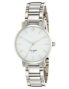 €334, Reloj Plateado de Kate Spade. De Asos. Detalles: https://lookastic.com/women/shop_items/37633/redirect