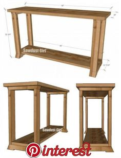 Console Table Woodworking Plans Sawdust Girl Diy Projects For The Home console Girl Plans sawdust Table Woodworking Diy Projects Plans, Diy Furniture Plans Wood Projects, Building Furniture, Easy Woodworking Projects, Woodworking Furniture, Woodworking Plans, Popular Woodworking, Woodworking Apron, Furniture Ideas