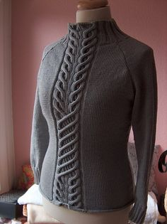 Ravelry: lillywool's Cable sweater