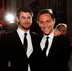 Chris Hemsworth and Tom Hiddleston...Two for one!