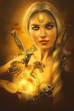 Keeper of the golden opal by *PerlaMarina on deviantART    The use of all the same colors mesmerizes me!