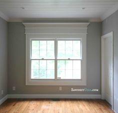 trim ideas - add trim to windows around builder trim to add elegance, via Sawdust Girl - after