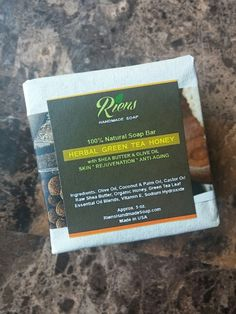 #Handmadesoap Herbal Green Tea Honey soap Checkout our new shop! http://www.rienshandmadesoap.com
