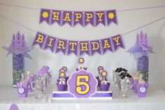 Ideas Birthday Banner Princess For 2019 Princess Birthday Party Decorations, Rapunzel Birthday Party, 5th Birthday Party Ideas, Tangled Party, Disney Princess Party, Happy Birthday Banners, Rapunzel Disney, Tangled Rapunzel, Yellow