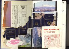 Endpapers from my travel diaries -- Rome