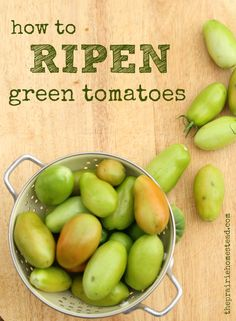 how to ripen green t