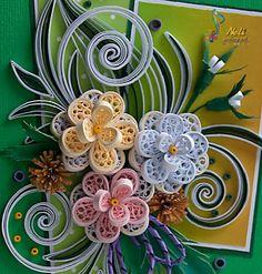 neli - Quilled floral design