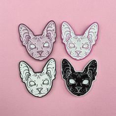 'Sphynx Cat' Pin (4 Colors!) #SphynxCat