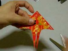 CNY ang pow art - wow, simplest red packet fish ever!  Very easy.  Uses one envelope to make a small, puffy angel fish.