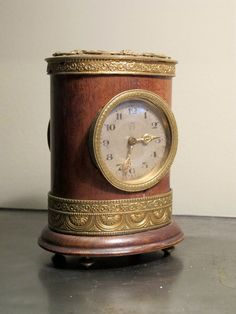 Late 19th Cent Danish Table Clock from Brownrigg Decorative Antiques
