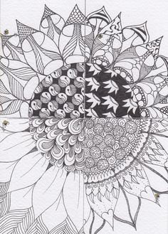 Zentangle Sunflower -- Flickr - Photo Sharing!