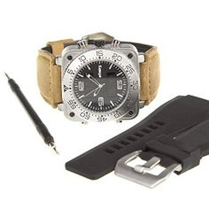 Shop INFANTRY Mens Analogue - Digital Display Wrist Watch Silver Leather Rubber Strap Tool Premium Set ✓ free delivery ✓ free returns on eligible orders. Glass Material, Military Army, Night Vision, Chronograph, Quartz, Watches, Luxury, Digital, Silver