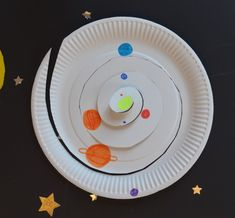 Paper Plate Solar System – Science Experiments for Kids Planets Activities, Solar System Activities, Solar System Art, Solar System Crafts, Space Activities, Preschool Lesson Plans, Preschool Science, Science Experiments Kids, Science For Kids