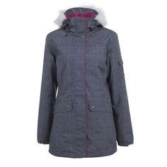 SKI SNOWBOARD LUGE Vêtements - VESTE SKI FEMME MIDSLIDE GRIS WED'ZE - Les hauts DARK_GREY