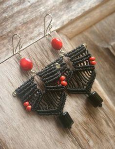 macrame earrings by carole