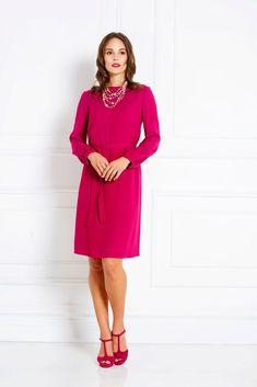 IVANA ROSOVA Luxury demi-couture businesswear made by women for women Viscose Dress, Business Wear, Workwear Fashion, Successful Women, Magenta, Work Wear, Perfect Fit, Dresses For Work, Couture