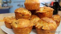 τυροκεκάκια Baking Videos, School Snacks, Sweets Recipes, Greek Recipes, Tart, French Toast, Muffins, Appetizers, Favorite Recipes