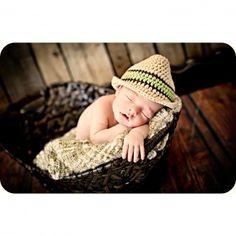 Crochet Fedora Hat for Babies - Newborn Photo Prop Baby Boy Fedora Hat - 2 Color Options! - Item MTZ-FEDORA