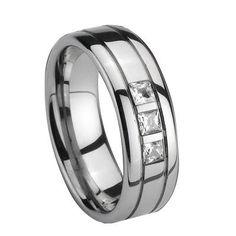 3 stone mens ring