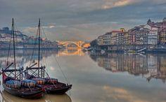 Porto - Barcos rabelos, Ribeira e Ponte da Arrábida