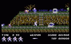 Ghosts 'n' Goblins for the Commodore 64. A great conversion, that managed to keep the essence of the classic arcade original.