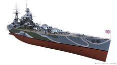 ArtStation - HMS RODNEY, Carlo Cestra Scale Model Ships, Scale Models, Model Warships, Model Tanks, Image Painting, Military Diorama, Royal Navy, Battleship, Plastic Models