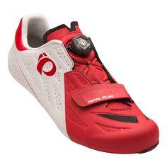 Chaussures Pearl Izumi Elite Road V5 blanc rouge | deporvillage