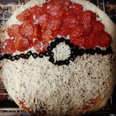 pokeball pizza  CUTE