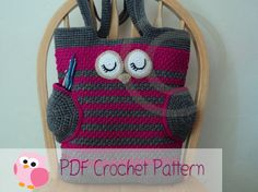 Hey, I found this really awesome Etsy listing at https://www.etsy.com/listing/100582611/owl-tote-bag-crochet-pattern-instant