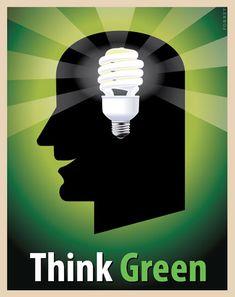 Steve Forney's Think Green Poster