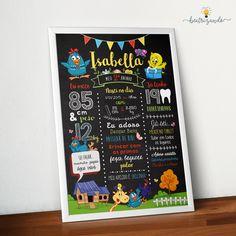 Chalkboard Galinha Pintadinha Digital