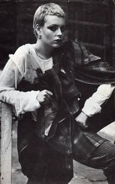 Tracie O'Keefe modelling Vivienne Westwood clothing for Seditionaries, 1977. Photo by Ku Khanh.