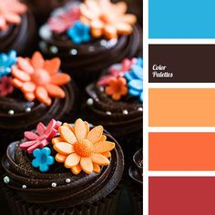 bright orange color palettes with color ideas for decoration your house, wedding, hair or even nails. Orange Color Palettes, Red Colour Palette, Color Yellow, Color Harmony, Color Balance, Pantone, Color Plan, Paint Color Schemes, Chocolate Color