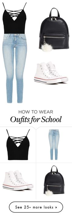 School Outfit #3 #dresscode on Polyvore featuring Boohoo, Converse and BP.