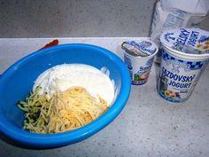 Cuketovo-syrovo-slaný koláč (fotorecept) - recept | Varecha.sk Thing 1, Ale, Icing, Pizza, Desserts, Food, Basket, Tailgate Desserts, Deserts