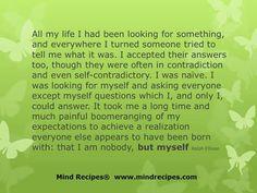 I am nobody, but myself!
