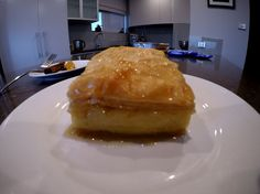 How to make Galaktoboureko (Greek Custard Pastry) Vanilla Essence, Greek Recipes, Custard, Cinnamon Sticks, Deserts, Sweets, Dishes, Cooking, Breakfast