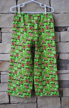 Christmas Pajama Pants Holiday Moose Lounge by BugaboosCloset, $12.00