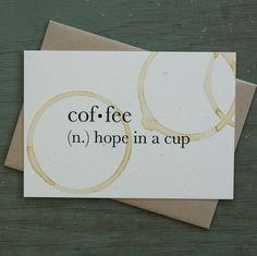 COFFEE: HOPE IN A CUP / Little City Love