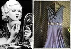Art Deco Dress Gatsby Dress Dress Style Dress Satin Dress Old Hollywood Dress Bias Cut Dress Cowl Neck Dress Beaded Gown Blue Satin Dress, Black Velvet Dress, Satin Dresses, Old Hollywood Dress, Old Hollywood Glamour, 1920s Fashion Dresses, 1930s Fashion, Bias Cut Dress, Art Deco Dress