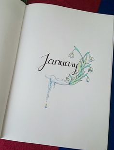 January cover page of my bullet journal