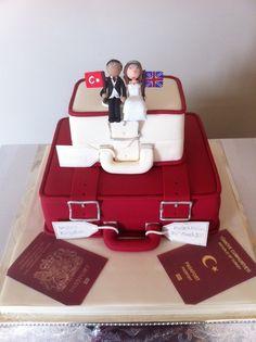 Multinational suitcase cake [Wedding Cakes by Karen]